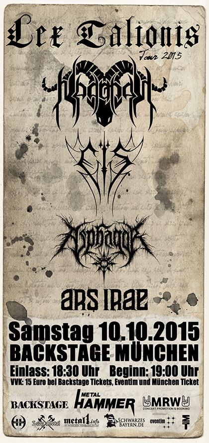 Dr Lex Nürnberg lady metal webzine : lex talionis tour - backstage mÜnchen 10/15